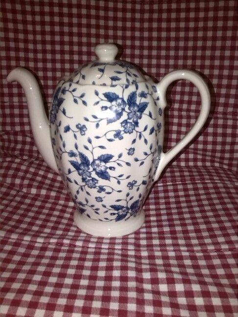 Royal Tudor Grindley Bouquet Blue koffiekan