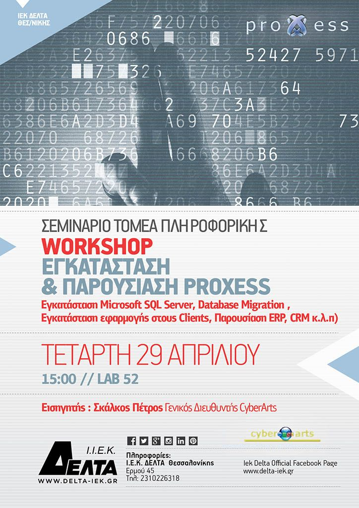 Workshop: Εγκατάσταση και Παρουσίαση Proxess