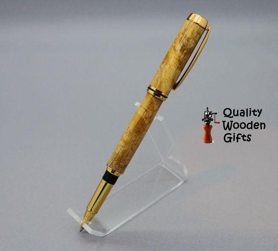 Penna di legno legno di Mango di QualityWoodenGifts su Etsy