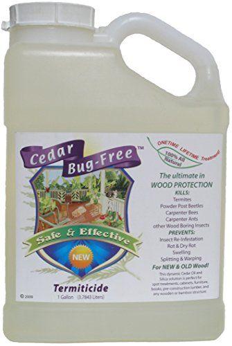 Termite Control  Cedar BugFree Termiticide Natural Termite Treatment Termite Spray  1 gallon -- Read more  at the image link.