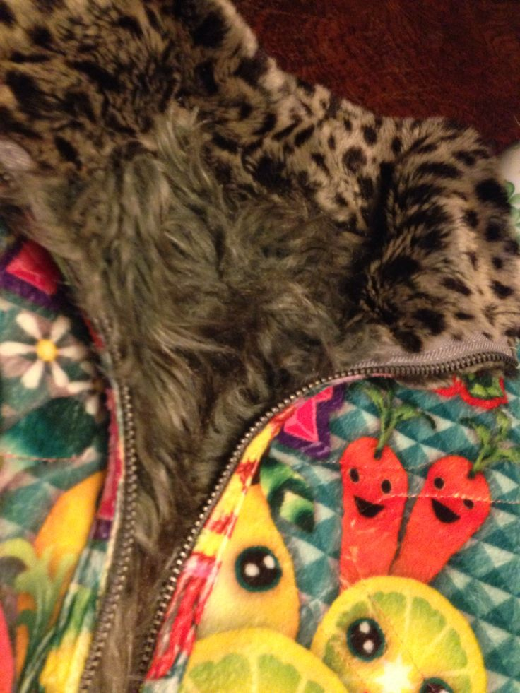 #Custo Wolf and ocelot faux fur jacket and iridescent fabric