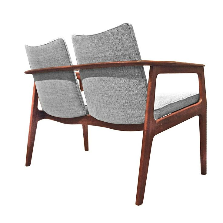 walnut chair, mid century