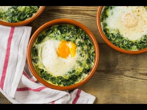 Espinacas con huevos a la crema   sin gluten y sin lactosa - La Rosa dulce