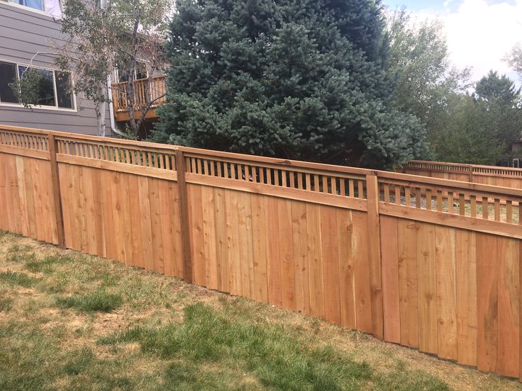 45 best colorado springs fence company fences images on for Craftsman style fence
