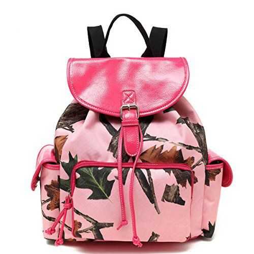New Trending Backpacks: Pink Forest Pink Camo Ladies Backpack Purse, Hot Pink. Pink Forest Pink Camo Ladies Backpack Purse, Hot Pink  Special Offer: $39.99  266 Reviews Express your western cowgirl with this roomy purse that doubles as a backpack. Very durable canvas material printed with Pink Camouflage forest leaves. The top flap has a magnetic snap for easy...