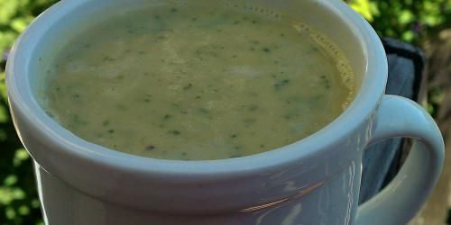 Roasted Green PepperSoup. Nice to see green bell peppers get the respect they deserve!