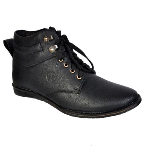 Man Casual Moc Toe Stitching Comfy Warm Fodera In Camoscio Leather High Top