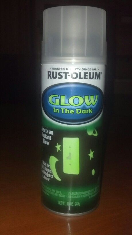 rust oleum glow in the dark spray paint found at home depot for. Black Bedroom Furniture Sets. Home Design Ideas
