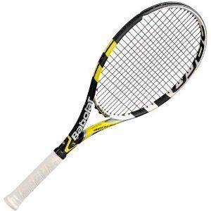 Babolat Aeropro Drive GT Unstrung Tennis Racquet (Size 2) by Babolat. $188.95. Head size 100-square inches / 645-square centimeters. Composition graphite and tungsten. String pattern 16 Mains / 19 Crosses. Balance point 4 pts head light. Length 27-inches / 69-centimeters. The Babolat AeroPro Drive GT (Graphite Tungsten) updates Rafael Nadal's racquet by adding a hybrid of braided carbon fibers and tungsten filaments throughout the entire racquet. Tungsten strengthens the...