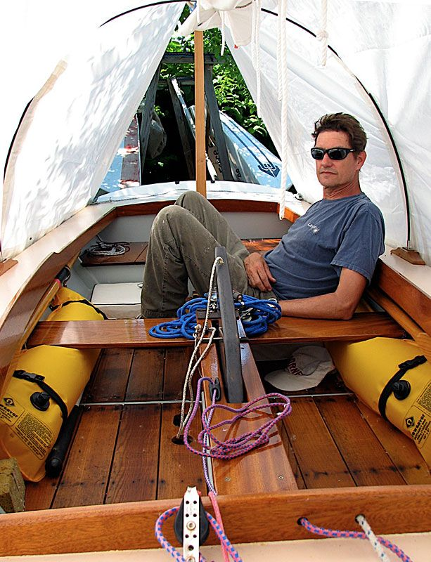 A nicely illustrated thread on woodenboat forums about designing a cockpit tent | Boom Tents and ...