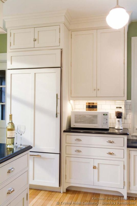 traditional white kitchen cabinets a better way to get white appliances panelize them with - Kitchen Remodel With White Appliances