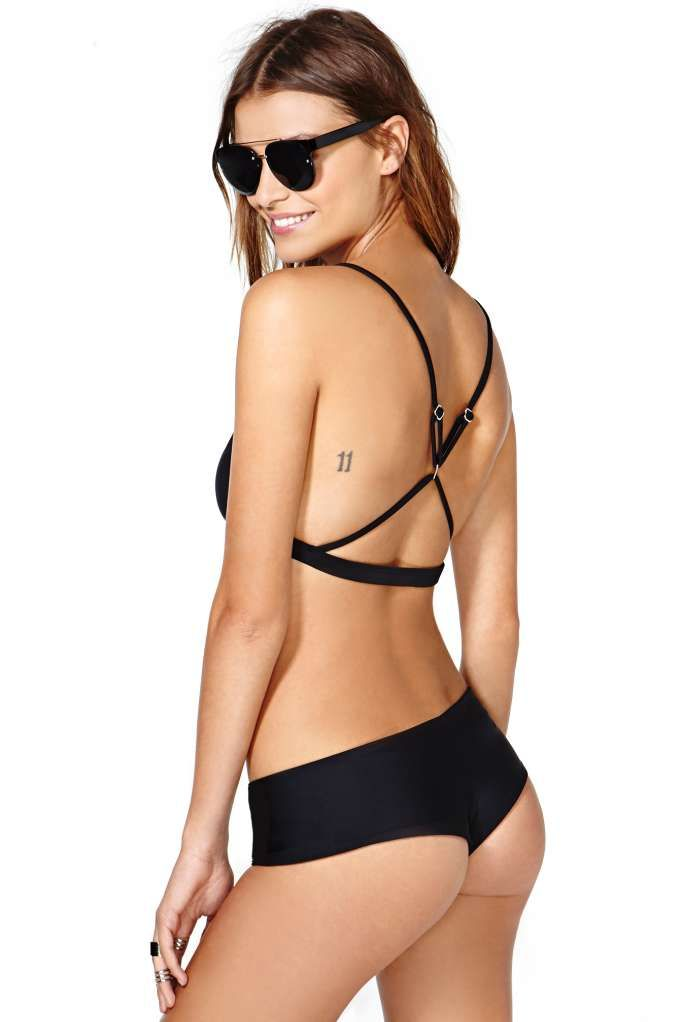 Nasty Gal Tahiti Bikini Bottom - Black | Shop Swimwear at Nasty Gal