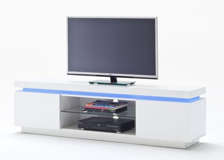 Unique Lowboard Ocean TV Schrank mit LED Farbwechsel Wei Hochglanz Buy now at https