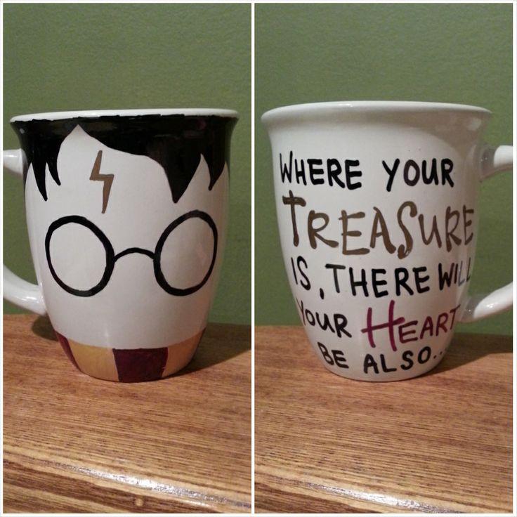 DIY Harry Potter sharpie mug!