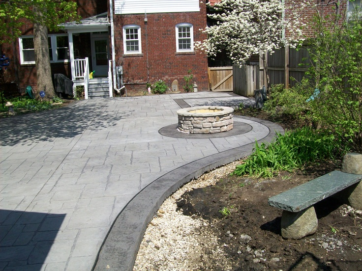 another custom concrete job by t h foundations st louis countys award winning concrete concrete patio designsstamped - Award Winning Patio Designs