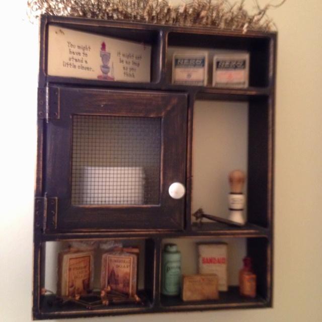 Primitive bathroom shelf