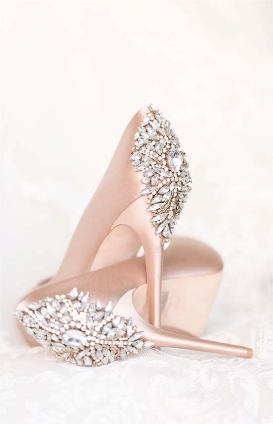 Perfect Blush Wedding Day Shoes