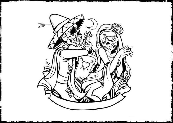 591 Best Skull Coloring Dia De Los Muertos Images On Pinterest