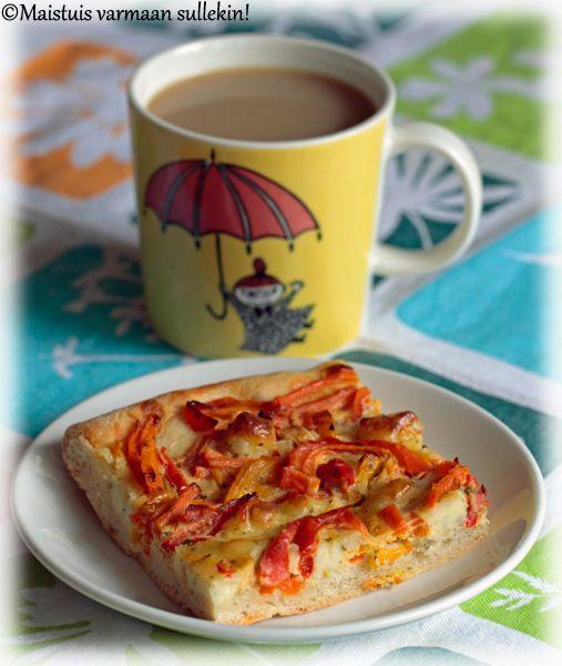 Maistuis varmaan sullekin!: Koskenlaskijan juusto-kasvispiirakka