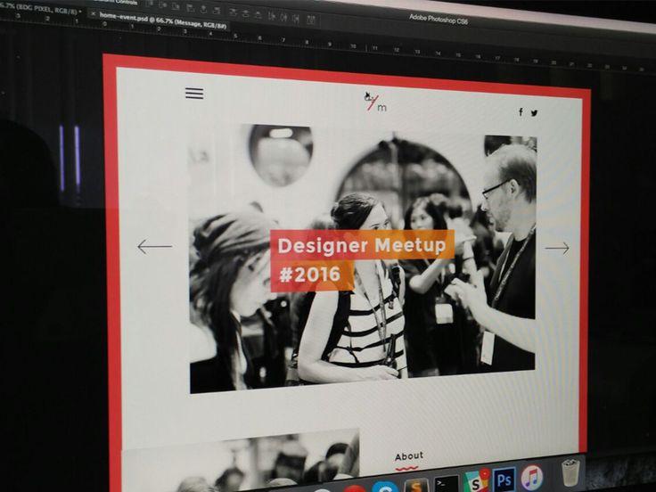 Event - Designer Meetup Landing Page  by Muhamad Reza Adityawarman
