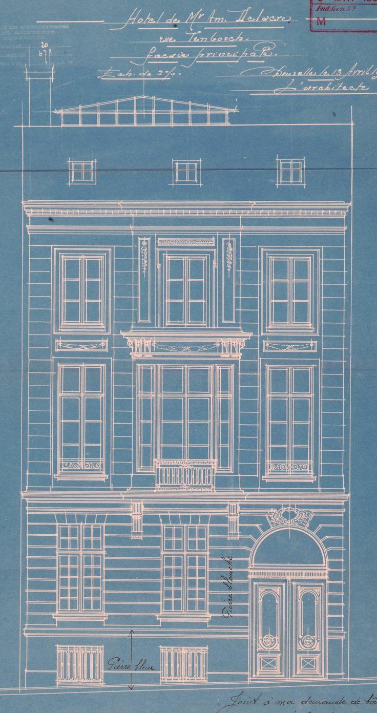 Bruxelles Extension Sud - Rue de Tenbosch 9 - SAINTENOY Paul