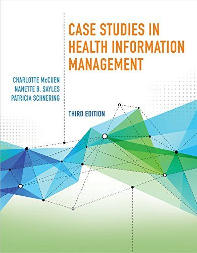 Case Studies in Health Information Management:   Created for aspiring Health Information Management (HIM) and Health Information Technology (HIT) professionals in training, CASE STUDIES IN HEALTH INFORMATION MANAGEMENT, 3rd Edition helps readers bridge the gap between classroom theory and on-the-job application. More than a collection of fascinating cases, this versatile worktext challenges readers to work through problems with coordinating spreadsheets and forms while applying lessons...