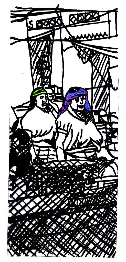 Mujeres de Tlacolula con tocados y rebozos (6)