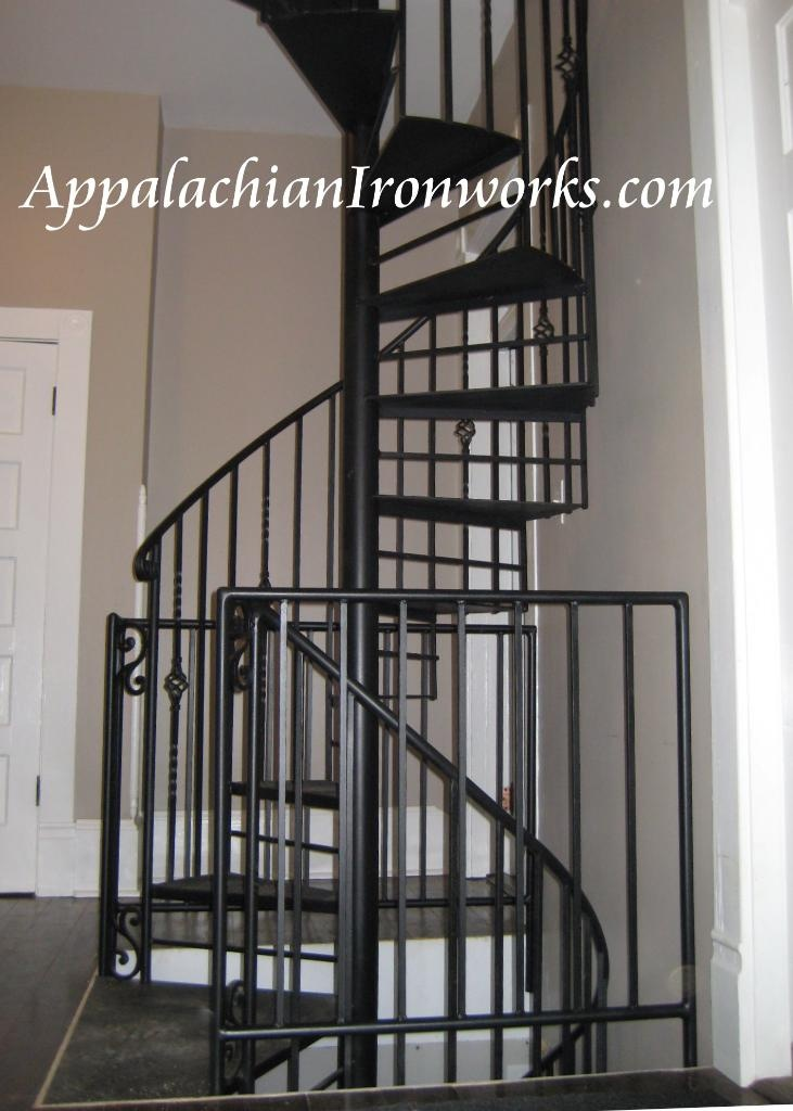 3 Story Spiral Staircase From Basement To Attic In Mt Joy Virginia In Bedford Custom Designed