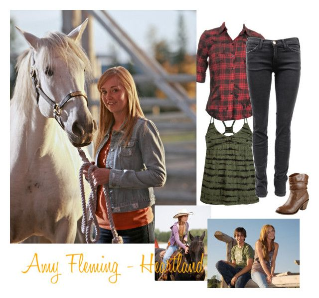 """Amy Fleming - Heartland"" by savvynicole ❤ liked on Polyvore featuring Billabong, OBEY Clothing, Current/Elliott, heartland, cbc, horse, amber marshall, horses, amy fleming and ponies"