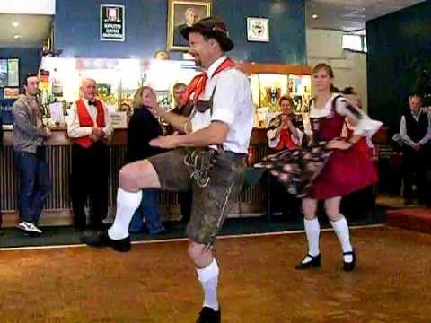 German  Bavarian Schuhplattler Knee dance,Slap Dance