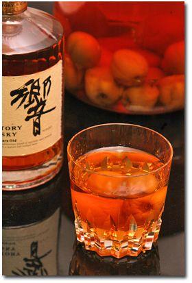 青梅・紅南高梅(梅酒用)×響(サントリーウイスキー)梅酒