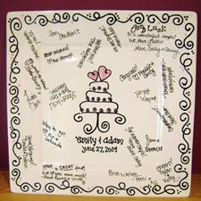 Paint your Own Pottery - Wedding Signature Plate