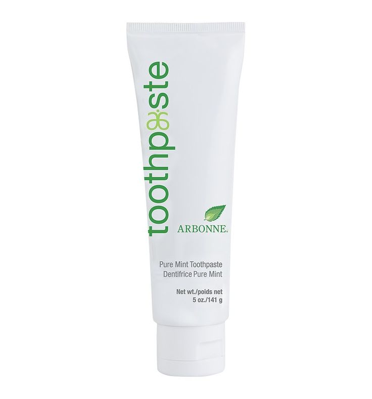 Toothpaste #4113 - Arbonne // You've got a reason to smile. Brushing daily with this fluoride-free toothpaste helps cleanse, brighten and prevent plaque and tartar build-up on teeth for close-up confidence. Flavored with mint and spearmint, our formula contains antioxidants from white tea, ginger, grape, pomegranate and cranberry extracts. Formulated without artificial colors and sweetened with the natural ingredient xylitol.