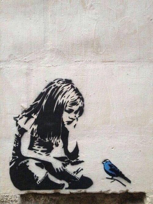 Banksy street art. LOVE