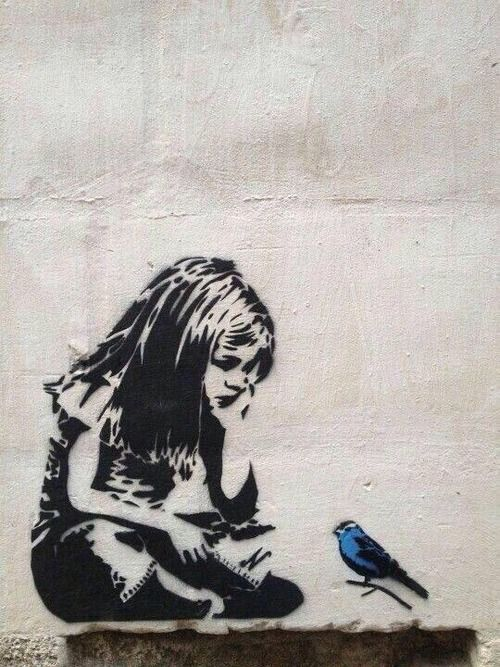 Banksy street art. LOVE Will u still love me tomorrow?