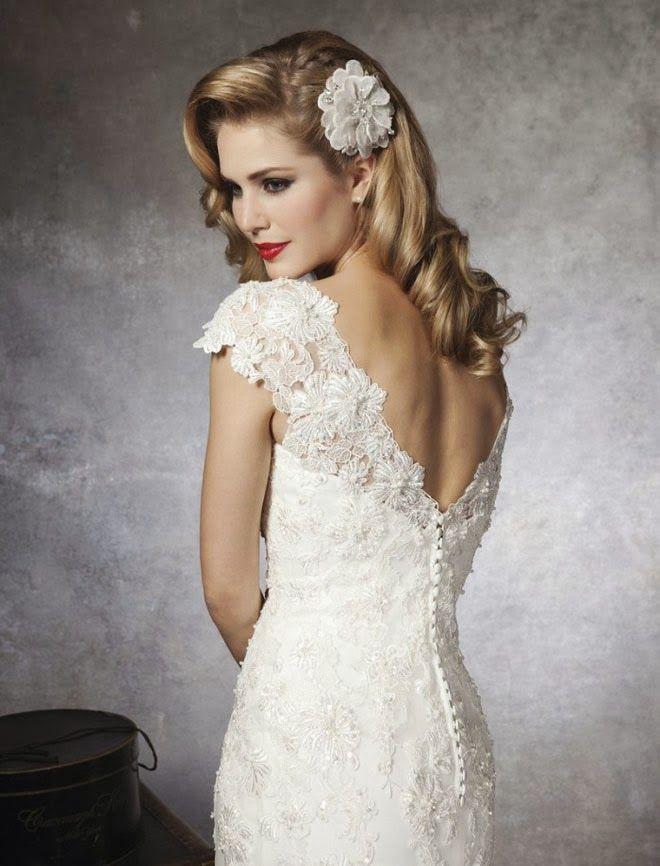 Cap Sleeve Lace Wedding Dresses