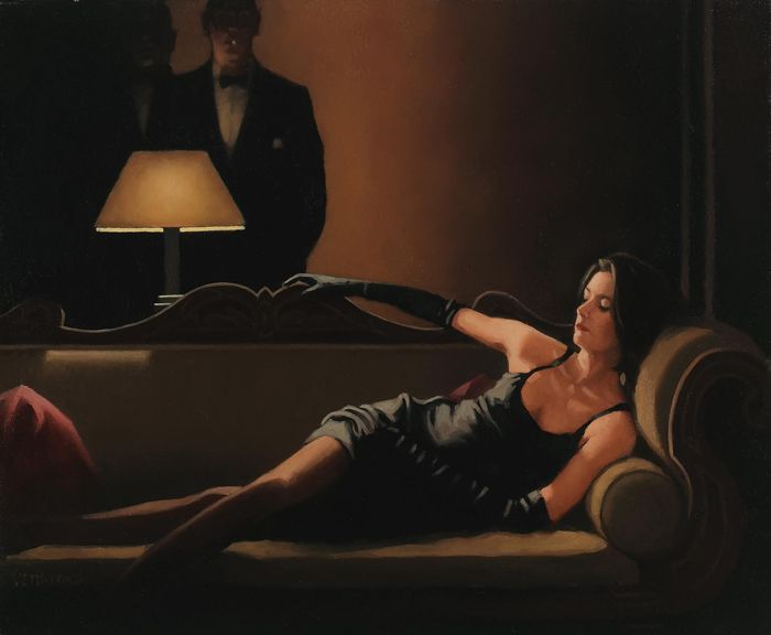 Along Came A Spider by Scottish artist, Jack Vettriano