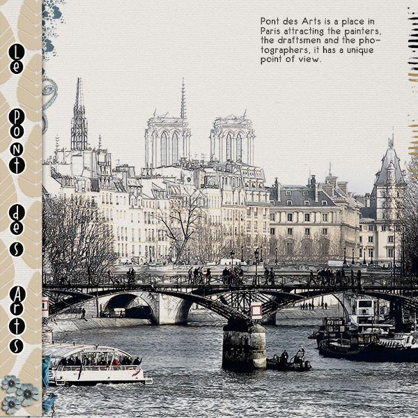 Le Pont des Arts - Slow Scrap Gallery - Gallery - Scrap Girls Digital Scrapbooking Forum