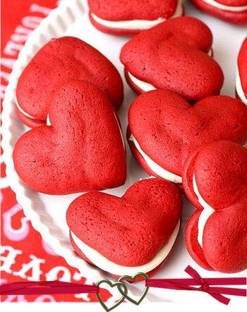 Recipe for Red Velvet Heart Whoopie Pies for Valentines