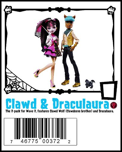 Wave 2 Clawd Wolf and Draculaura