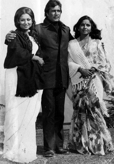 Sharmila, Rajesh and Rakhee.