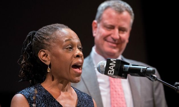 """NYC's first lady has given her first solo speech on immigration and she wants the world to know that she is a """"G."""" No, really. """"Now, I am a G-two, a second generation immigrant,"""" Chirlane McCray said during her speech. McCray's first spee"""