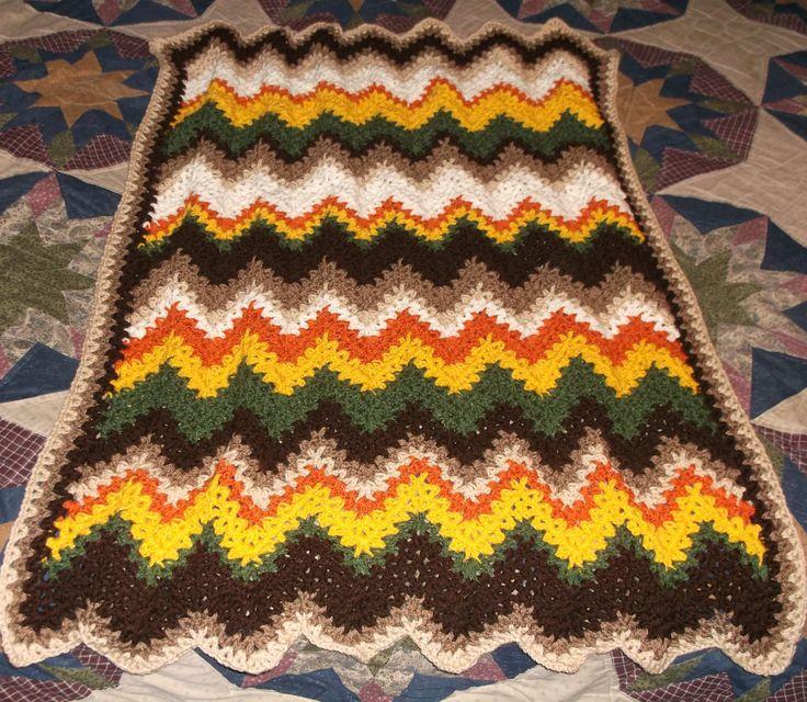 Mejores 260 imágenes de Crochet Afghans / Blankets en Pinterest ...