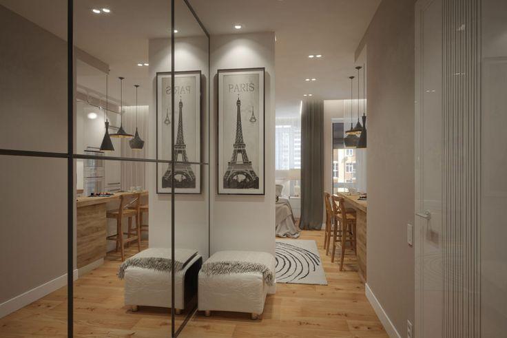 Дизайн смарт-квартиры в светлых тонах. Площадь квартиры 30 кв. метров. Квартира создавалась для студентки, которая очень любит готовить. От этого и отталкивались при создании проекта. На кухни создали максимально комфортное пространство. От обычного обеденного стола отказались. Взамен используется…