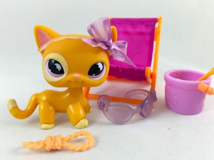 Rare orange cat 855 w purple moon eyes chair amp accessories hasbro
