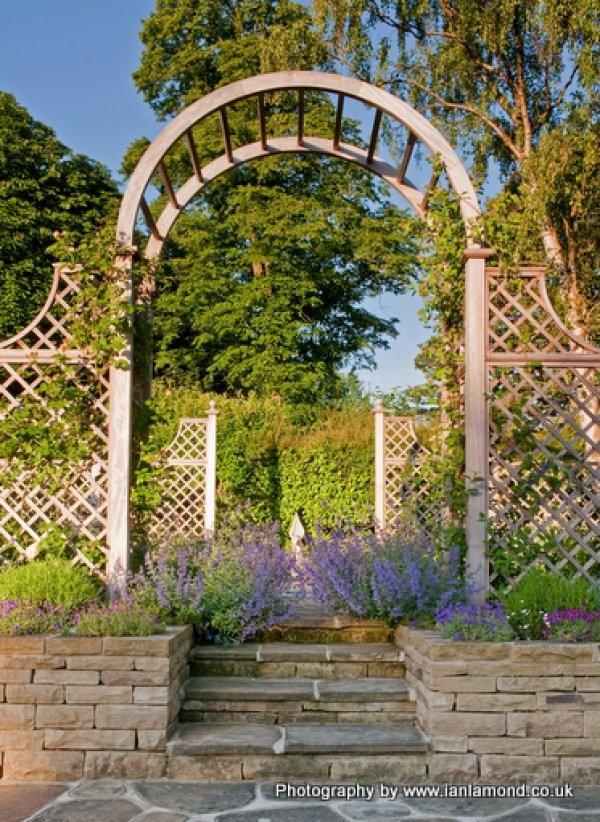 Rose Arch & Trellis by Stuart Garden Architecture