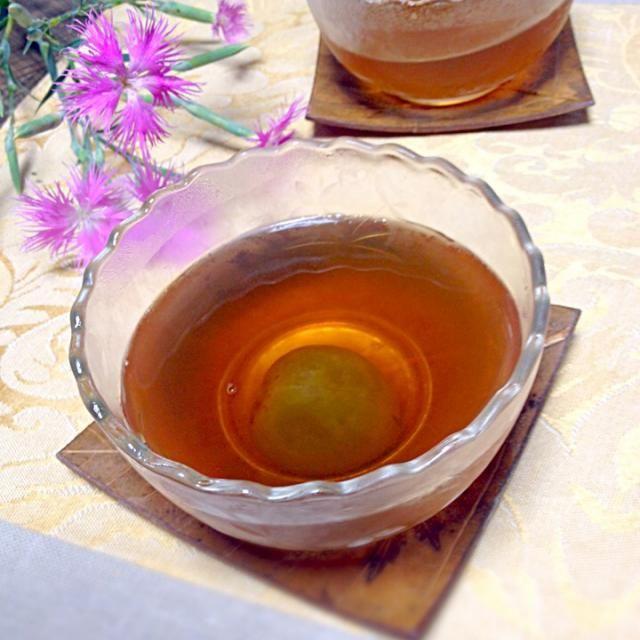 昨日作った梅の甘露煮でゼリー 甘露煮も美味しいけど、このシロップがとっても美味しいのです。 - 32件のもぐもぐ - 梅の甘露煮を使って☆梅ゼリー by せーこ