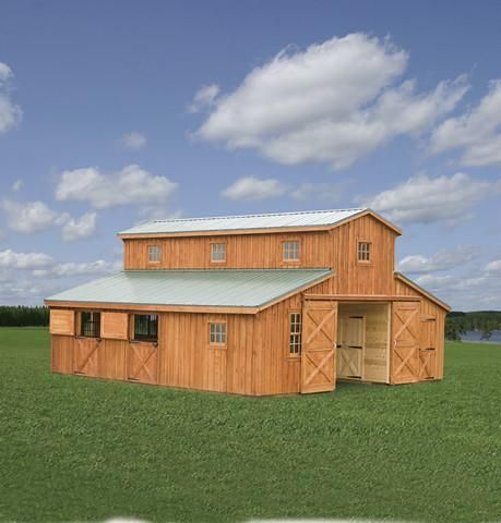 Barns monitor barns run in sheds shed row barns for Monitor barn plans with living quarters