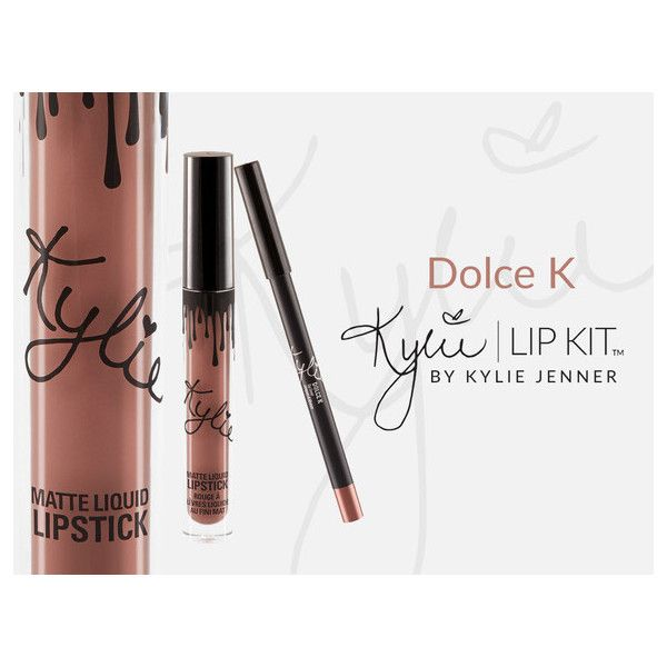 Dolce K ($29) ❤ liked on Polyvore featuring kylie cosmetics and lip kit