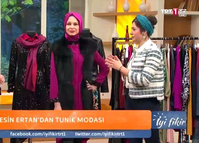 Esin Ertan ile Moda TRT1 iyi fikir - Bugünkü Programımızdan Kesitler.. Haftanin Konusu : '' TUNiK MODASI ''